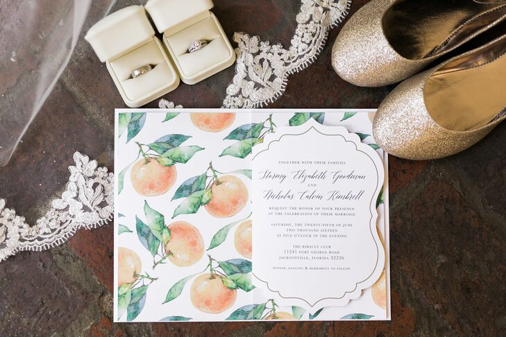 Illustrated Clementine Wedding Invitations