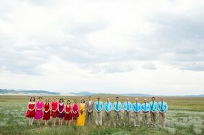 Colorful, Casual Wedding Party