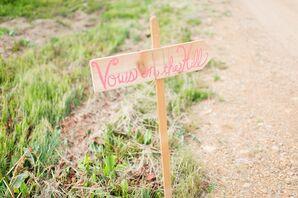 DIY Wood Ceremony Sign