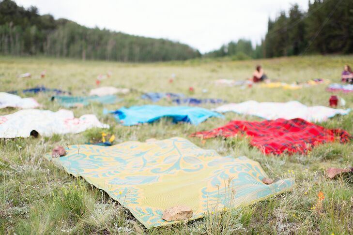 Guests sat on blankets on the hill, which had a 360 degree view of the mountains.