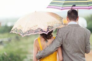 Shauna and Jason in the Rain