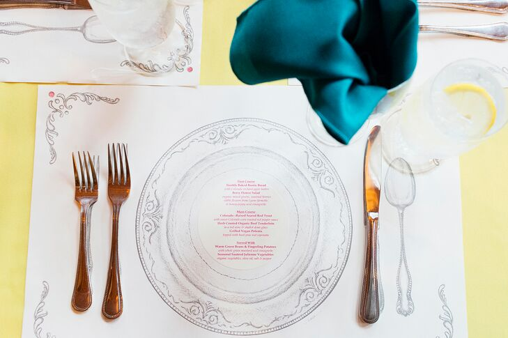 DIY Drawing Place Settings