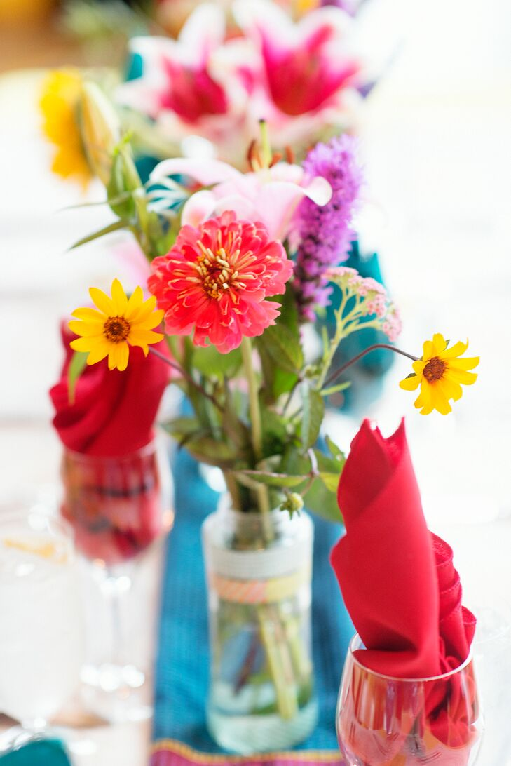 DIY Wildflower Centerpieces