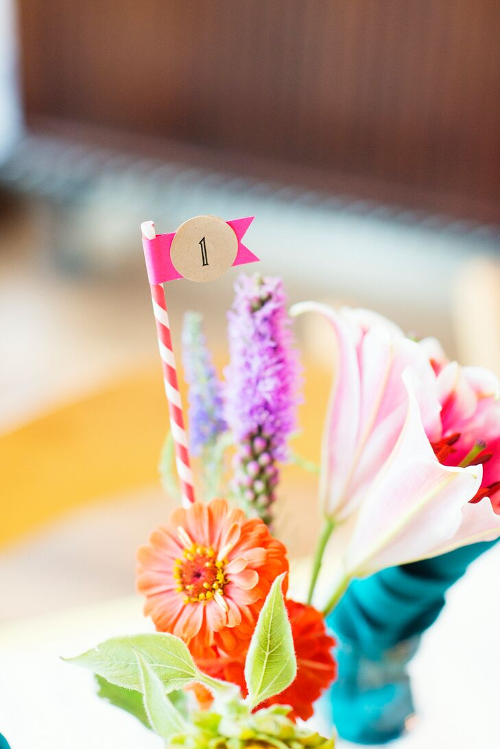 Paper Straw Table Numbers