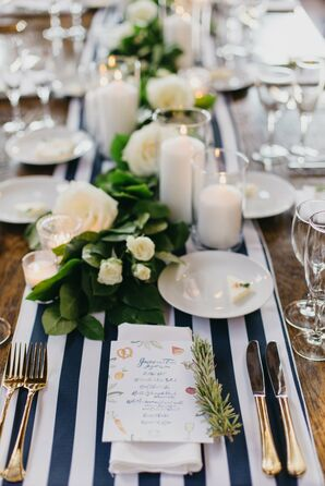 Hamptons-Inspired Striped Table Runners