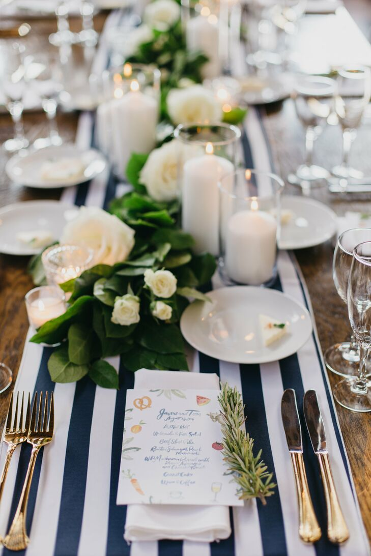 Hamptons Inspired Striped Table Runners