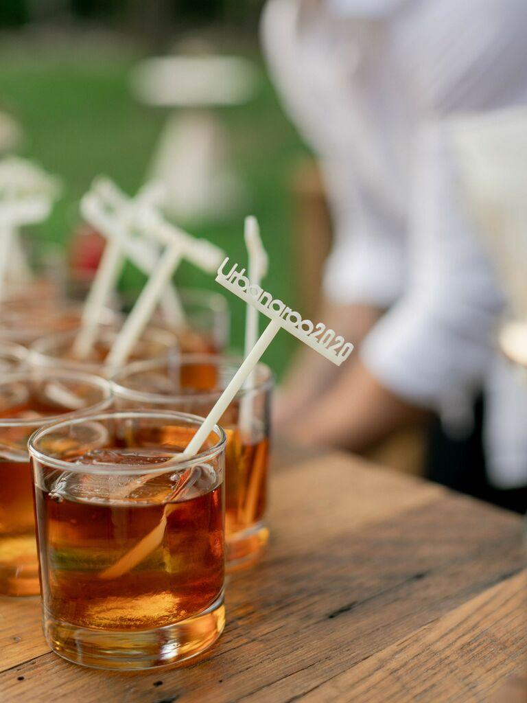 wedding drink ideas whiskey sour