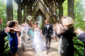 Melissa and Etienne Bubble Recessional