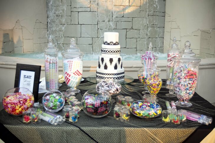 Guests were invited to treat themselves to a candy bar full of sweet throwback favorites like Ring Pops, Poprocks and Dots.
