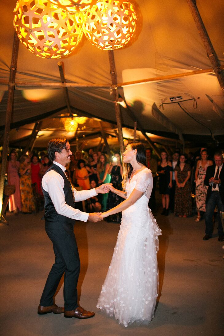 First Dance at Eclectic Wedding in Driftwood, Texas