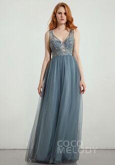 CocoMelody Bridesmaid Dresses RB0306 V-Neck Bridesmaid Dress