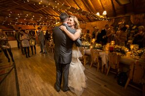 Rustic Winter-Inspired Reception