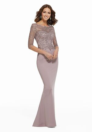 MGNY 72020 Purple Mother Of The Bride Dress