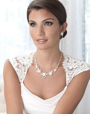 Dareth Colburn Rose Flower Jewelry Set (JS-1639) Wedding Necklace photo