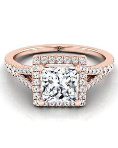 RockHer Glamorous Princess Cut Engagement Ring