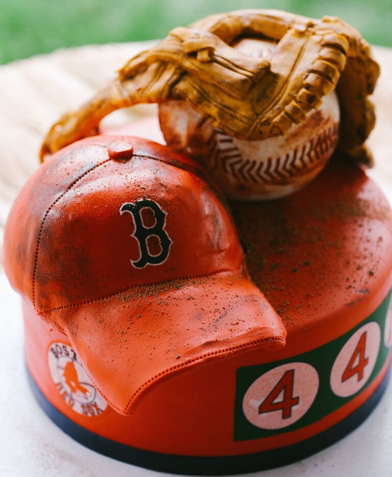 Boston red sox themed grooms cake