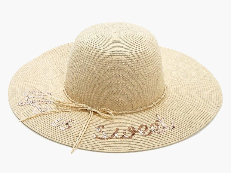 92e4da978 Floppy Sun Hats With Writing for Honeymoon, Bachelorette Party