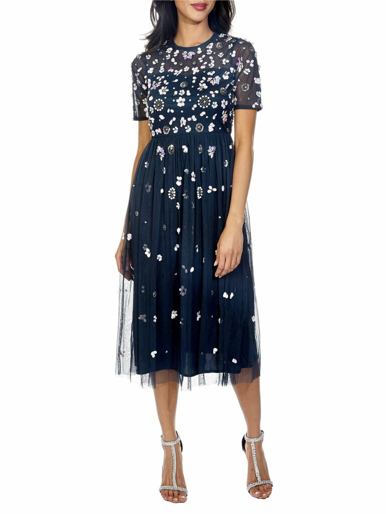 baby sequin midi dress