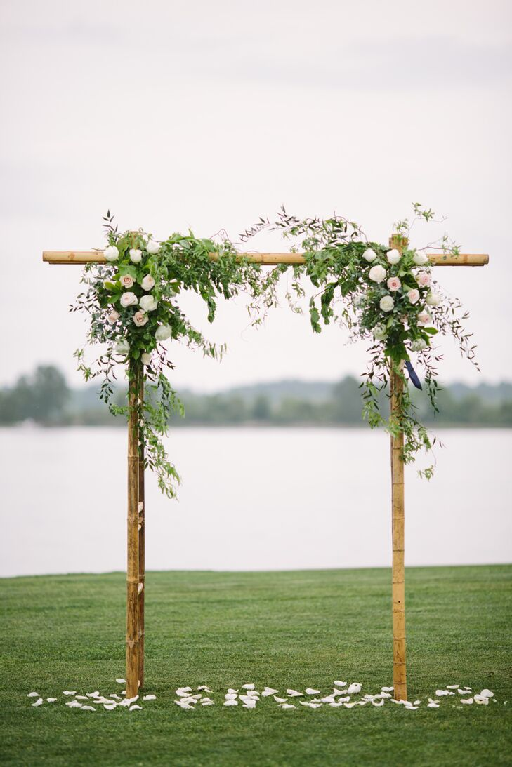 Bamboo Arbor With Roses