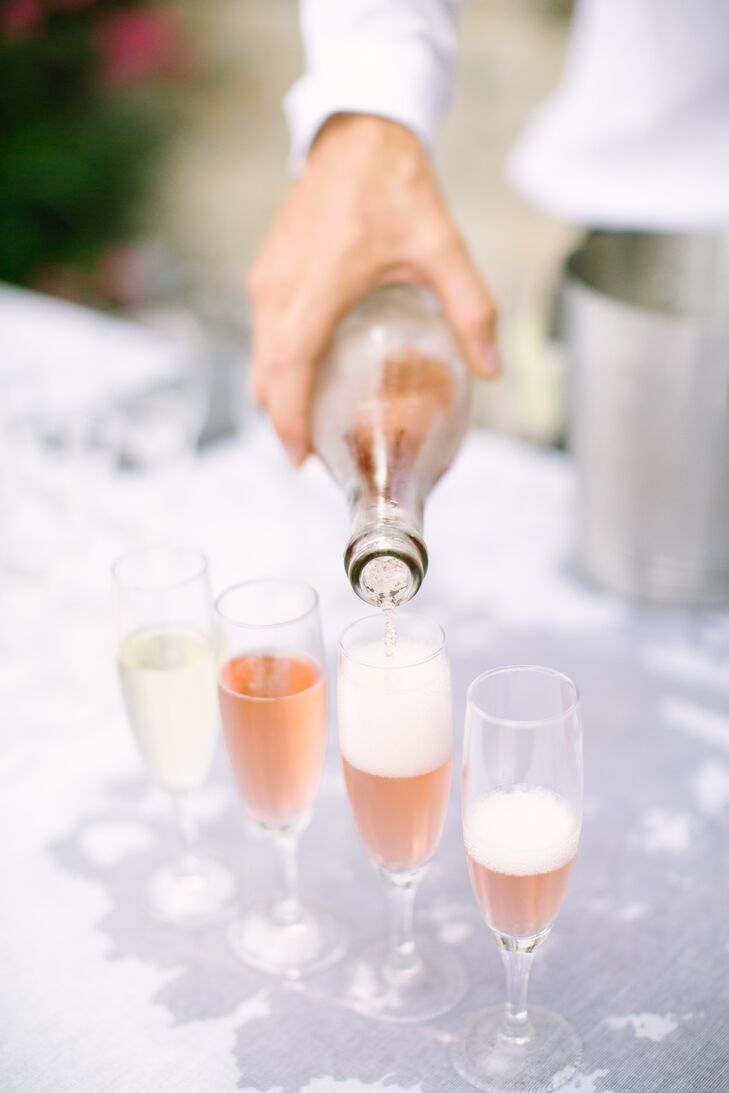 Rosé Champagne Toast