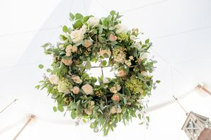Rose and Eucalyptus Floral Chandelier
