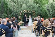"For their wedding, Hayley and Eric Levy wanted to ""combine the laid-back, boho ambience of California with the sophisticated, mid-century modern and a"