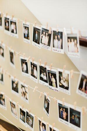 DIY Polaroid Guest Book Banner