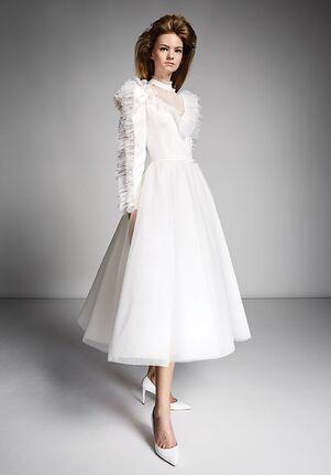 Viktor&Rolf Mariage VOLANT SLEEVE TEA LENGTH Ball Gown Wedding Dress