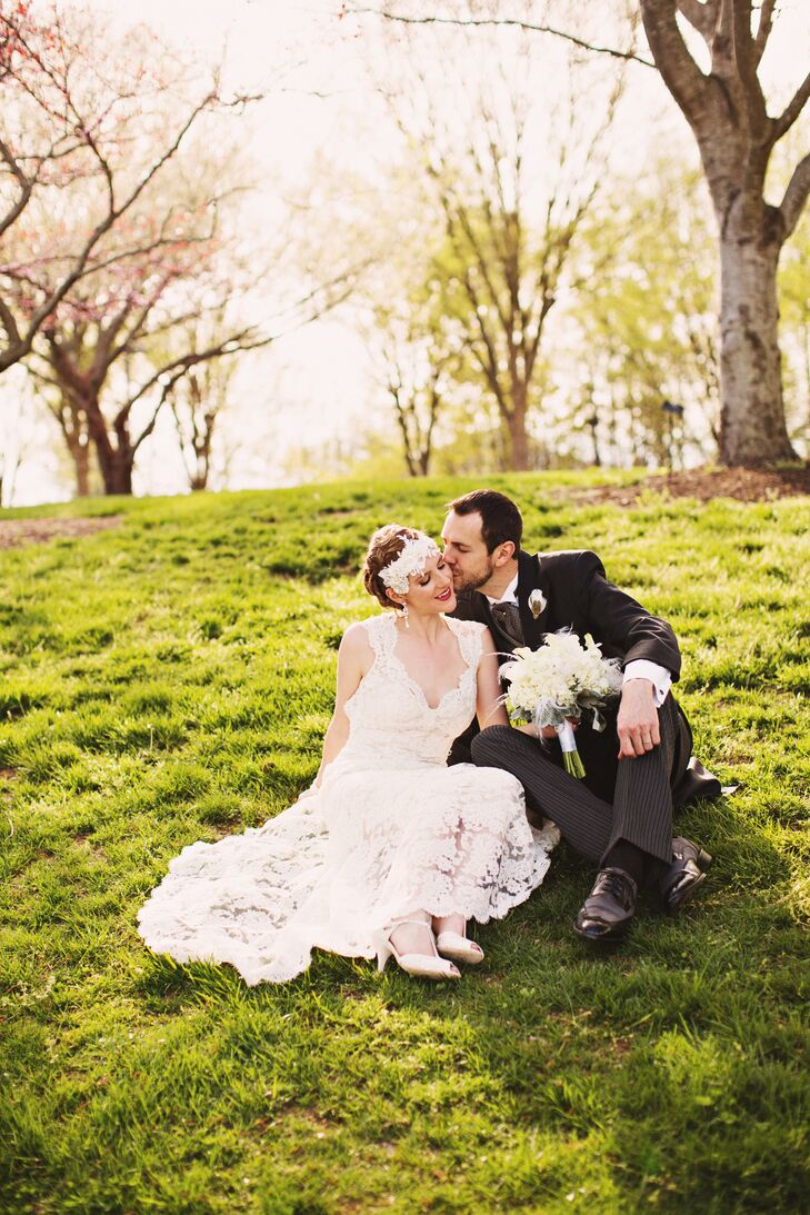 """""""The best reflection of our relationship was the ceremony, which we wrote together with the help of our comedic great friend, Vinny Valdivia,"""" says Kristen. """"We did our best to steer clear of the traditional repeat-after-me vows and even included a reading from Plato's Symposium."""""""