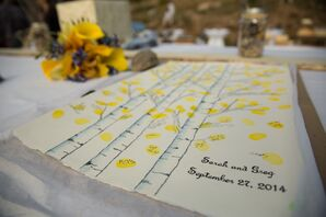 Colorado Aspen Tree-Inspired Guest Book