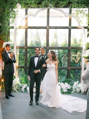 Ceremony Recessional at The Foundry in Long Island City, New York