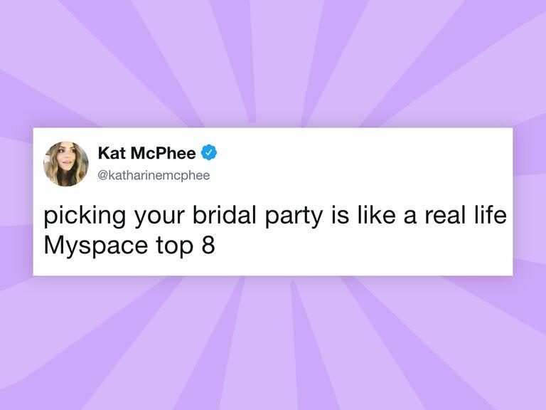 Katharine McPhee bridal party tweet