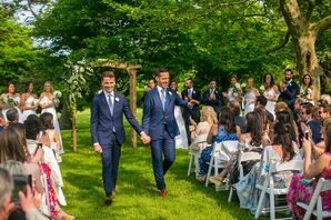 Classic Same-Sex Recessional at Brecknock Hall in Greenport, New York