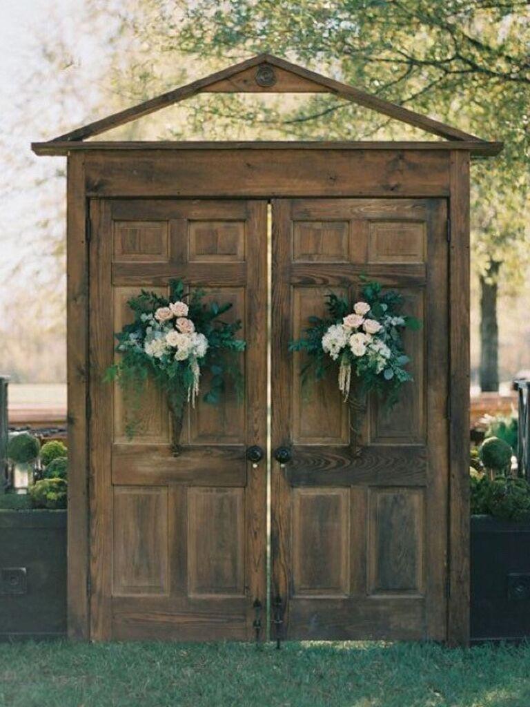 Backyard wedding ideas doors