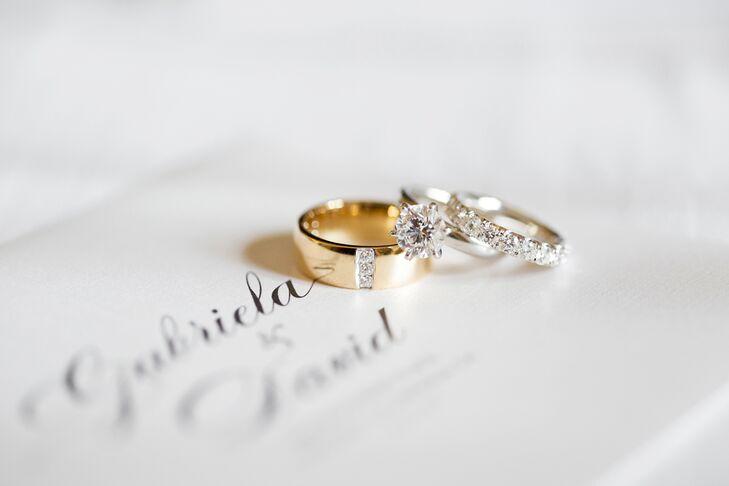 Elegant Engagement and Wedding Rings