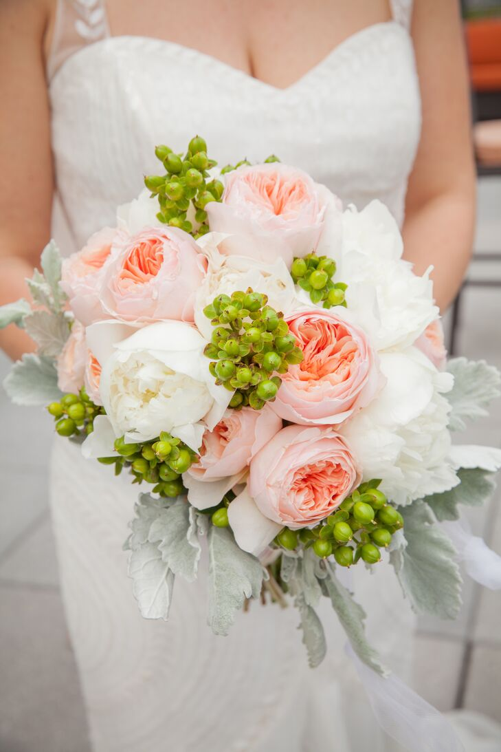Romantic Pink and White Peony Bouquet
