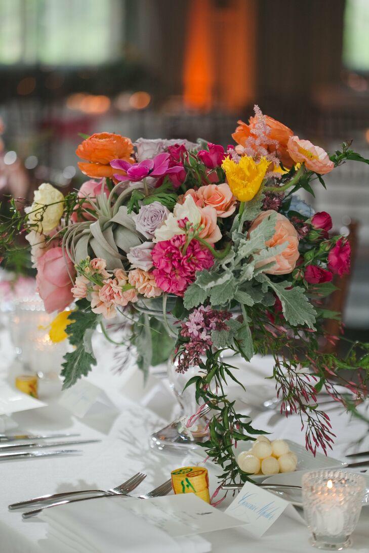 Pastel Mixed Floral Centerpiece
