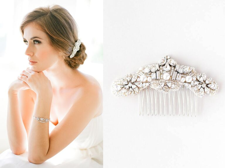 Cartier Rhinestone Bridal Hair Accessories