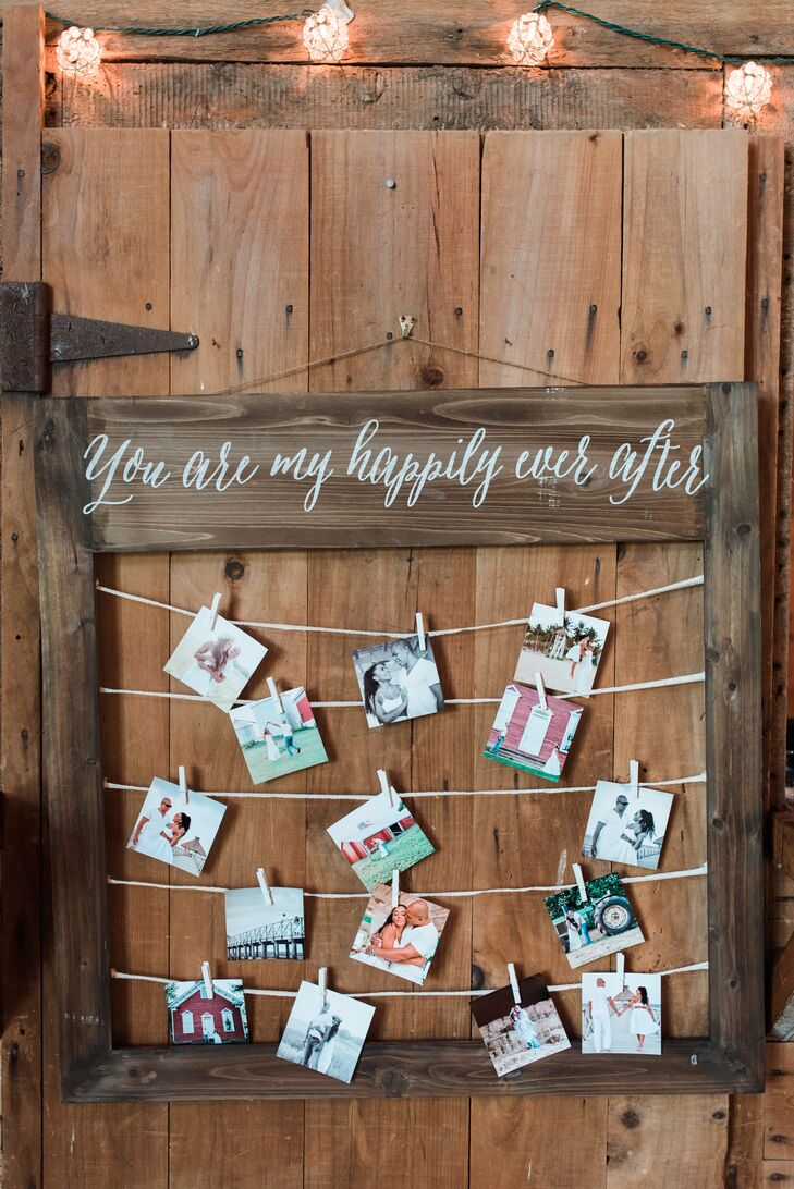 Photo Display and Happily Ever After Wood Sign