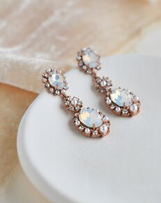 Dareth Colburn Alicia Pearl & Opal Earrings (JE-4182) Wedding Earring photo