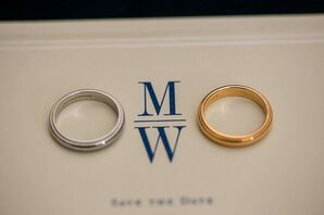 Classic Platinum and Gold Wedding Bands