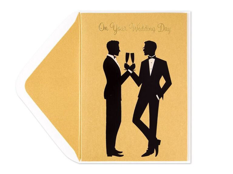Same sex wedding card from Papyrus