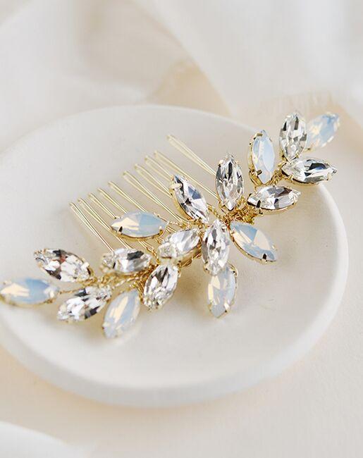 Dareth Colburn Nora Opal & Crystal Comb (TC-2435) Gold, Silver Pins, Combs + Clip