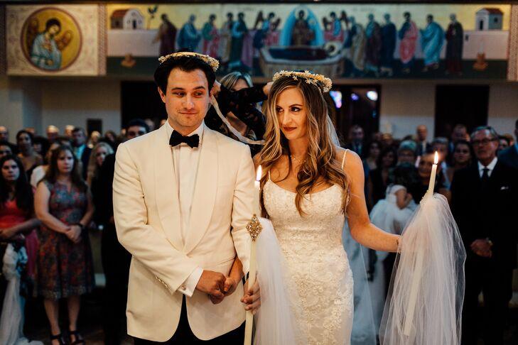 Classic Couple at Orthodox Greek Ceremony
