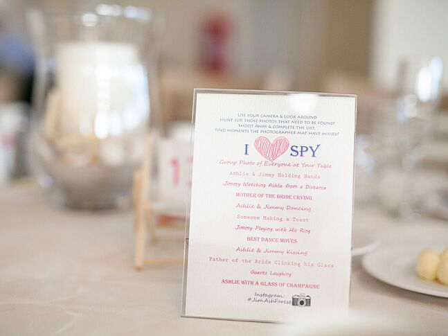 I Spy Wedding Games