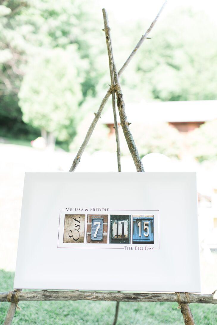 Numeral Photograph Guest Book Alternative