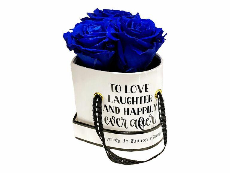 Rosepops wedding rose gift for fiance