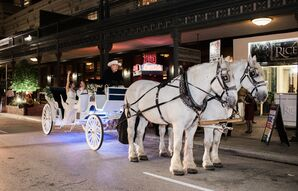 Traditional Horse and Carriage outside The Crystal Ballroom