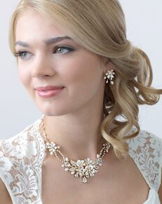 USABride Eve Floral & Ivory Jewelry Set (JS-1661) Wedding Necklace photo