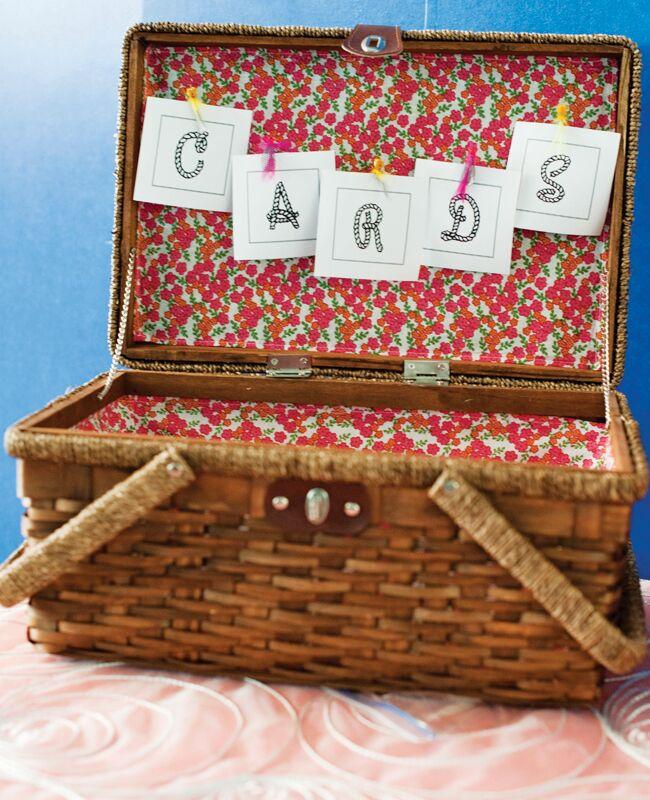 picnic basket wedding card box